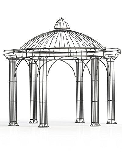 Pavillon Garten, Metallpavillon, Gartenlauben, Rosenpavillon, Pavillon Stabil Athene Ø 300 cm...