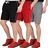 #4: Checkersbay Boys Cotton Shorts( 3BS00-BL-RE-GR) Pack of 3