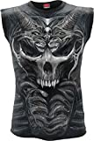 Spiral Men - Skull Armour - Allover Sleeveless T-Shirt Black