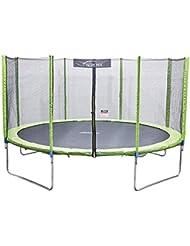 Terena® Trampolin neongrün 183 244 305 366 427cm mit Netz Sicherheitsnetz Gartentrampolin für Kinder