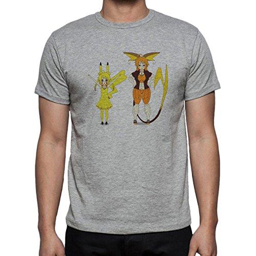 Pokemon Raichu Electric Pikachu Human Herren T-Shirt Grau