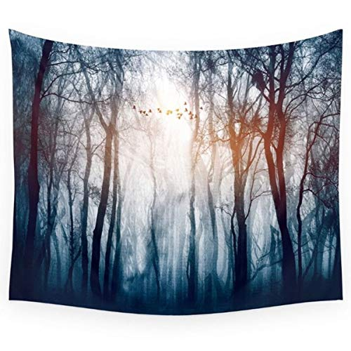 "BAOQIN Tapisserie Nature and The Forest's Ultimate Landscape Enjoy This Visual Feast Home Decoration Fog Forest Tapestry Wall Hanging Home Decoration for Dorm Bedroom 51"" W x 60"" L"