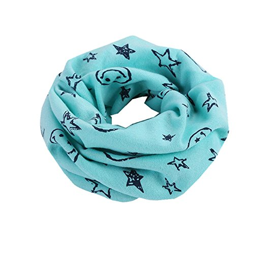 Schal Kinder, Dragon868 Warmer Baumwollschal Junge Mädchen Schal Winter Multicolor Halstuch (Blau)
