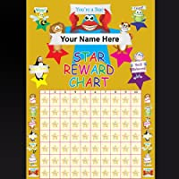 Childrens Reward Chart A4 Personalised With 75 Free Gold Metallic Stars..Remember To Tell Us The Name You Would Like To Be Printed On The Reward Chart See Photo No2 On How To Send DetailsTHANK YOU..