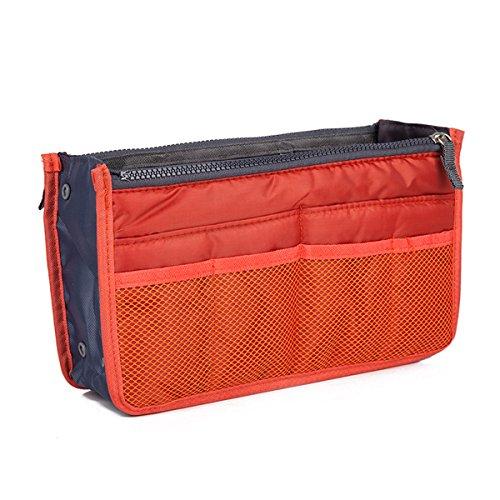 Yodensity Multifunktionale Kosmetiktasche Handtaschenordner Doppel-Reißverschluss Organizer Make Up Reisetasche Geldbeutel
