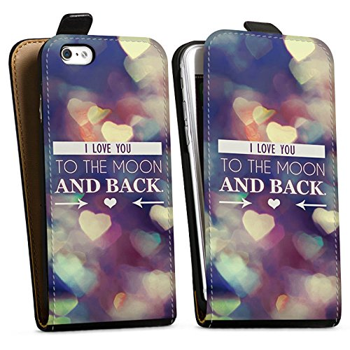 Apple iPhone X Silikon Hülle Case Schutzhülle Valentinstag Geschenk Liebe I love you Downflip Tasche schwarz