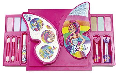 Happy People 52002 Barbie Schminkset 'Schmetterling', für Mädchen, zum Aufklappen, Make-Up...