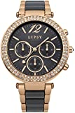 Lipsy women's Quartz Watch with Grey Dial Analogue Display and Two Tone Other Bracelet LP404