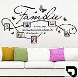 DESIGNSCAPE® Wandtattoo Bilderrahmen Familie mit 6 Fotorahmen 90 x 46 cm (Breite x Höhe) schwarz DW807140-S-F4