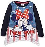 Disney Mädchen T-Shirt Minnie Mouse London, Blau (Blue 19-4010TC), 5-6 Jahre