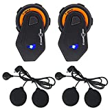 FreedConn Motobike Intercom Bluetooth 4.1 Headsets Full Duplex Interphone Walkie Talkie 6 Riders...