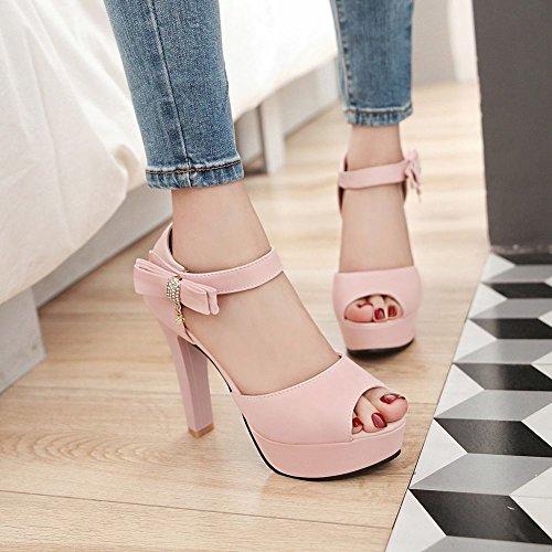 Mee Shoes Damen high heels ankle strap Knöchelriemchen Sandalen Pink