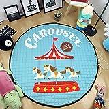 SMACO-Eintrittsmatte Spielplatz Spielzeug Aufbewahrungstasche Teppich Kinder-Spiel-Matten Durchmesser 59