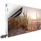 Smagnon Magneet radiatorbekleding radiatorafdekking verwarming bescherming motief strand, radiator hoogte: 60 cm, lengte radi