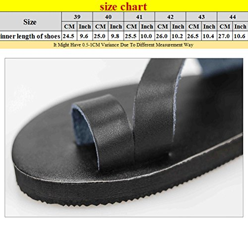 Zhhlinyuan Summer Holiday Sandals Flip Flops Mens Beach Casual Shoes 3 Colors Black