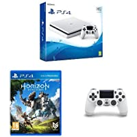 Sony PlayStation 4 500GB Console (White) + Sony PlayStation DualShock + Horizon: Zero Dawn Standard Edition PS4 Game