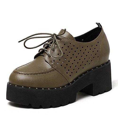 Ronde tête plateforme plateforme shoes au printemps/relaxation profonde/Chaussures lacées C