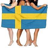 LUOL Weiche Strandtuch Flagge von Schweden Home Badezimmer Hotel Bad Tabelle Sets strapazierfähig Sport saugfähig Pool Spa Gym Handtücher Einfach Pflege Maschinenwäsche