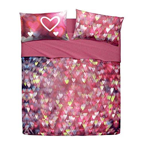 Lenzuola Copriletto Love Hearts Bassetti completo Matrimoniale due piazze N902