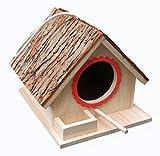 Tettoia per uccelli Tettoia per uccelli, scatola di nidificazione degli uccelli, assemblata (PRONTA ALL'USO), per uccelli grandi come cockatiel, pappagallini, parrocchetti, colombe e piccoli uccelli