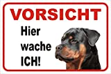 Schild - Vorsicht Rottweiler