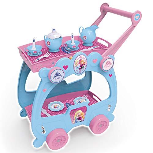 #1018 Disney Frozen Servierwagen mit Zubehör • Puppengeschirr Puppenservice Tablett Teewagen Die...