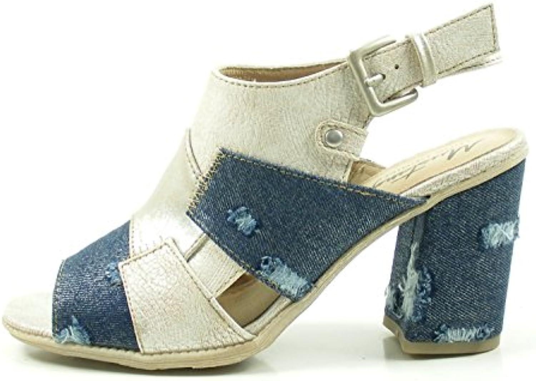 Mustang 1278-801 Sandalias de Material Sintético Mujer, schuhgröße_1:41 EU;Farbe:Beige