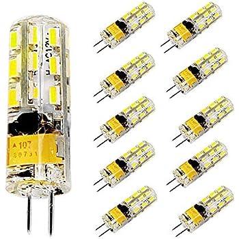 Pocketman Paquete de 10 2 Watt AC/DC 12V G4 Bombillas LED Equivalente a la