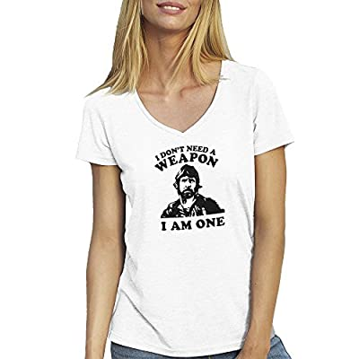 Chuck Norris Seal Approved Cool Logo Friendly Bees T-shirt Col V pour les femmes