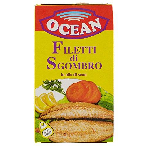 Ocean - Filetti di Sgombro, in Olio di Semi - 25 pezzi da 125 g [3125 g]