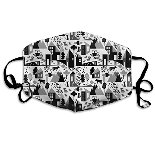 Nordic Village Black And White Anti Dust Mask Anti Pollution Washable Reusable Mouth Masks
