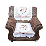 Kuber Industries™ Cream Flower 5 Seater Net Sofa Cover| Slip Cover Set -10 Pieces Code-S005