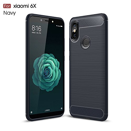Xiaomi Mi A2Fall, avidet Dämpfung Flexible Soft Gel TPU Silikon Schutzhülle für Xiaomi Mi A2Fall/Xiaomi 6x Fall (Blau) Gel Soft Fall