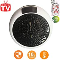 Nifogo Portable Heater - Mini Estufa Eléctrica 1000 W Termoventilador Bajo Consumo con Termostato Ajustable,
