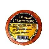 ganzer Laib La Extremeña gereifter Ziegenkäse curado mit pasteurisierter Milch aus Spanien - Paprika Rinde