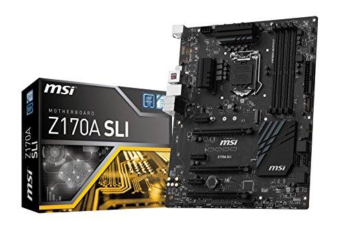 MSI-Z170A SLI MSI Z170A SLI presa Intel LGA 1151 DDR4 USB3,1, SLI Crossfire/Turbo M.2 LAN GB, SATA, RAID 1/0/5/10, Scheda madre ATX, colore: nero