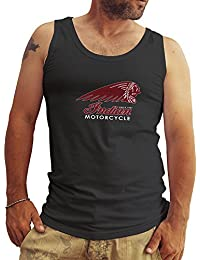 Indian Motorcycle American Bikers Logo Hombres Camiseta Sin Mangas Tank Tops
