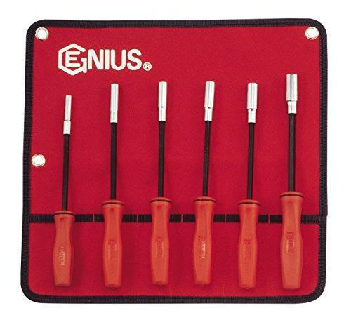 Genius Tools 6SAE lang Hex Nut Driver Set (mit Magnet) nm-006sd (Sae Driver Set Nut)