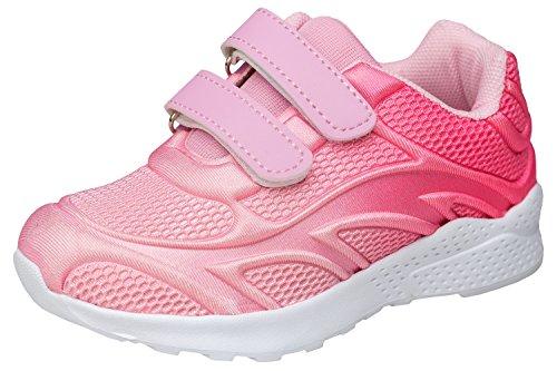 gibra Sportschuhe Sneaker für Babys und Kleinkinder, Art. 3927, Sehr Leicht, mit Klettverschluss, Rosa/Pink, Gr. 24 (Sportschuhe Kleinkinder)