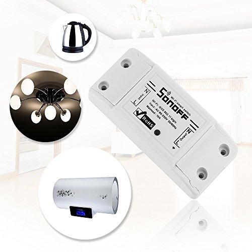 Sonoff interruttore wifi, funziona con Amazon Alexa, Nest Google, DIY Smart, per attivare luci o elettrodomestici tramite Android o iOS
