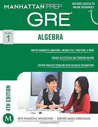 GRE Algebra Strategy Guide (Manhattan Prep GRE Strategy Guides) por Manhattan Prep