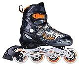 Spokey Freestyle verstellbare Inlineskates ABEC 7 Skate Inlineskate Inliner Skates für Erwaschene Kinderinliner NAILER (schwarz-orange, 31-34)