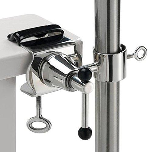 Exclusif - 360 ° Support en acier inoxydable avec écrou et 2 poignées enclume pour fixation de satellite runden Écran Outdoor Bâtons avec colliers à Ø 55-65 mm à ronde ou eckigen Éléments jusqu'à Ø 40 mm. En acier inoxydable poli Acide - inoxydable - lave-vaisselle - seewasserfest - anti-magnétique - Matériau : alliage v 4 a - Chrome - Nickel - molybdène - Titane - - Innovations fabriqué en Allemagne - Holly® produits Stabielo Holly-Sunshade®
