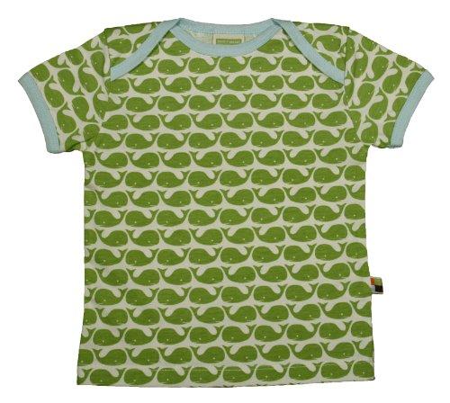 Design Kinder T-shirt (Loud + Proud Unisex - Baby T-Shirts Tierdruck 204, Grün (Moos ), 98/104)