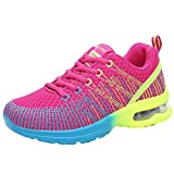 Femmes Mode Respirant Confortable Athlétique Sport Chaussures Baskets Running Chaussures Sneakers BaZhaHei (37 EU,Rose Vif)...
