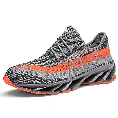 CHNHIRA Herren Laufschuhe 350 Air Cushion Turnschuhe Straßenlaufschuhe Unisex Sportschuhe Sneaker(EU 39, Grau)
