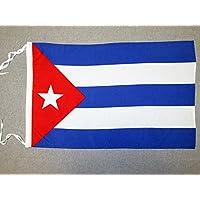 BANDERA de CUBA 45x30cm - BANDERINA CUBANA 30 x 45 cm cordeles - AZ FLAG