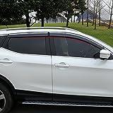 BeHave - deflettore aria auto, protezione antipioggia, accessorio auto, per finestrini auto, confezione da 4 pezzi, cromati, yd314w