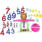 Colorido Plastico Oso Equilibrio Balanza Numeros Ninos Educativo juguete