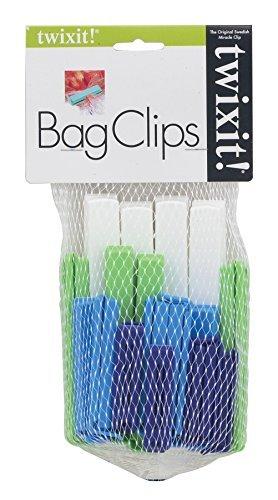 Linden Sweden Twixit Clip Bag Sealers, Set of 20 Assorted by Twixit! Twixit Clip